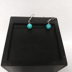 Blue and black earrings